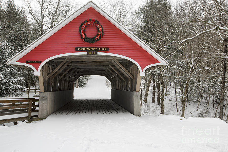 Flume Covered Bridge - White Mountains New Hampshire Usa Photograph