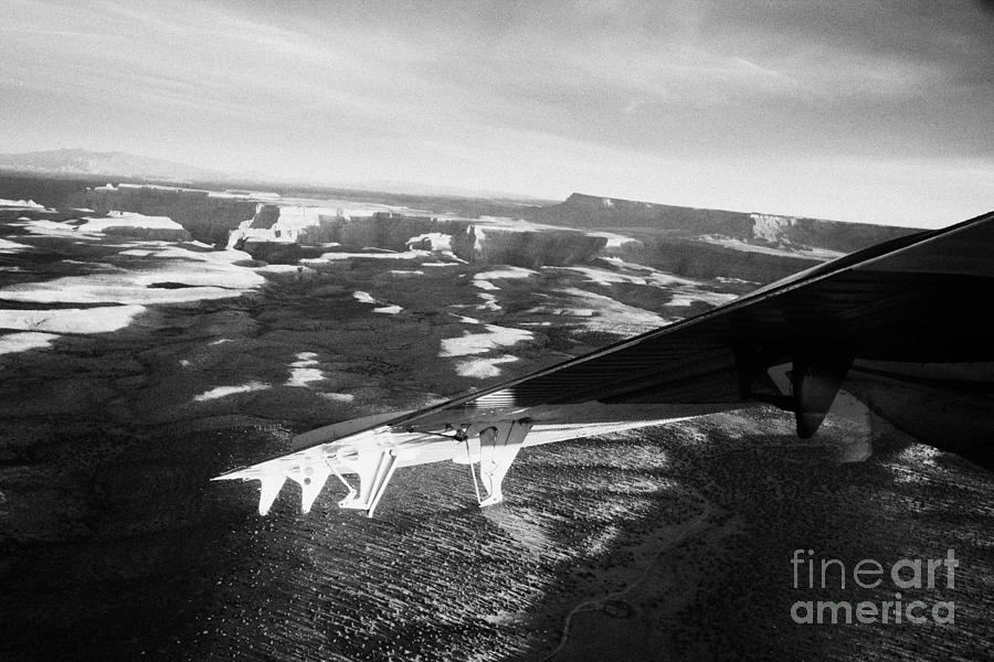 flying over land approaches to the rim of the grand canyon Arizona USA Photograph