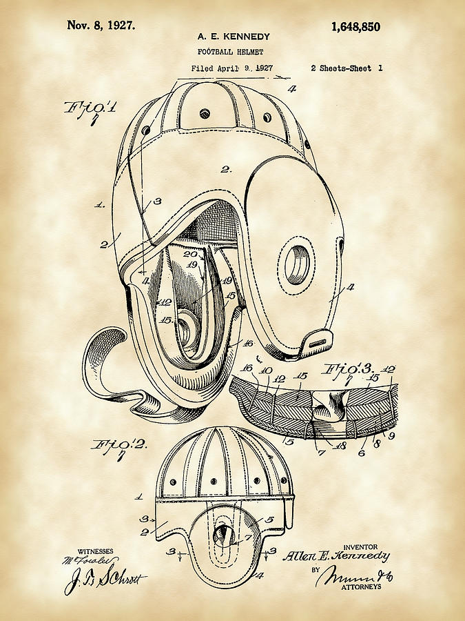 Football Helmet Patent Digital Art