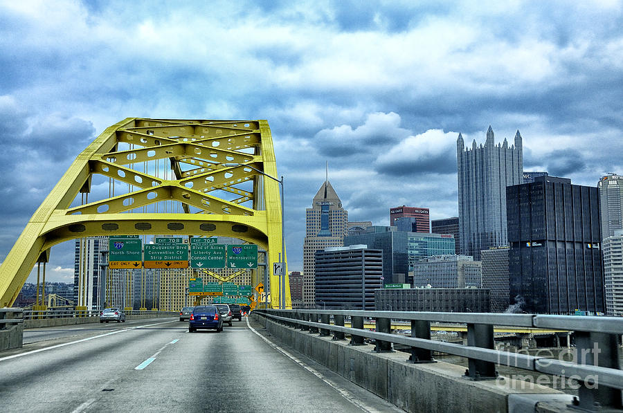 Fort Pitt Bridge And Downtown Pittsburgh Photograph  - Fort Pitt Bridge And Downtown Pittsburgh Fine Art Print