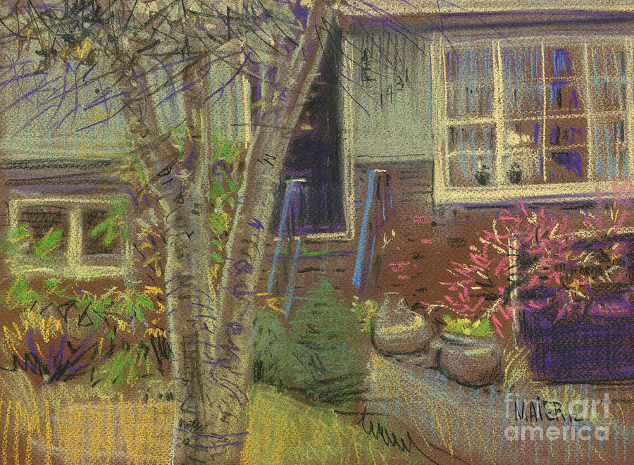 House Painting - Front Door by Donald Maier