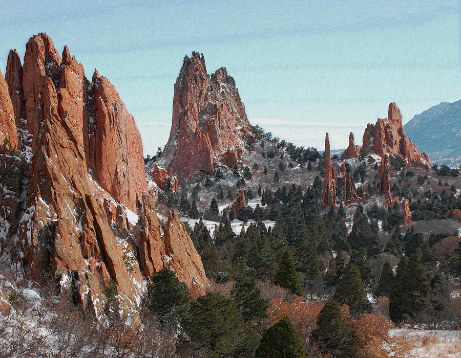 Garden Of The Gods Colorado Digital Art By Ernie Echols