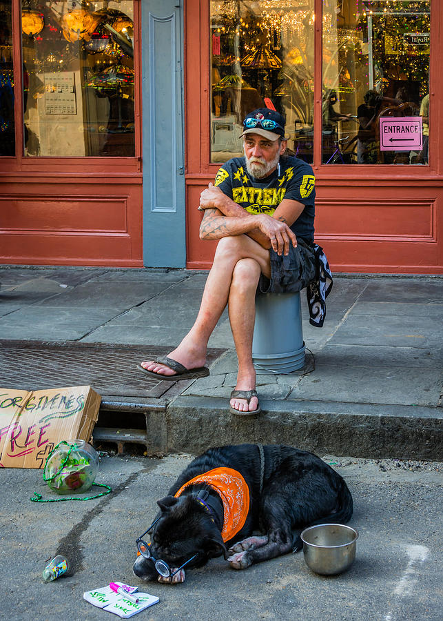 French Quarter Photograph - Gettin By In New Orleans by Steve Harrington