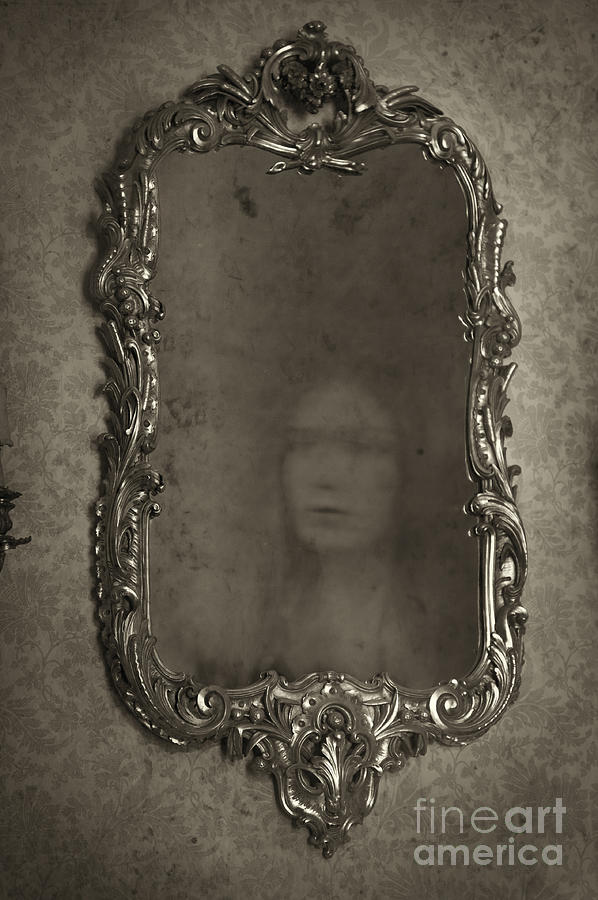 Ghost Of A Woman Reflected In A Mirror Photograph