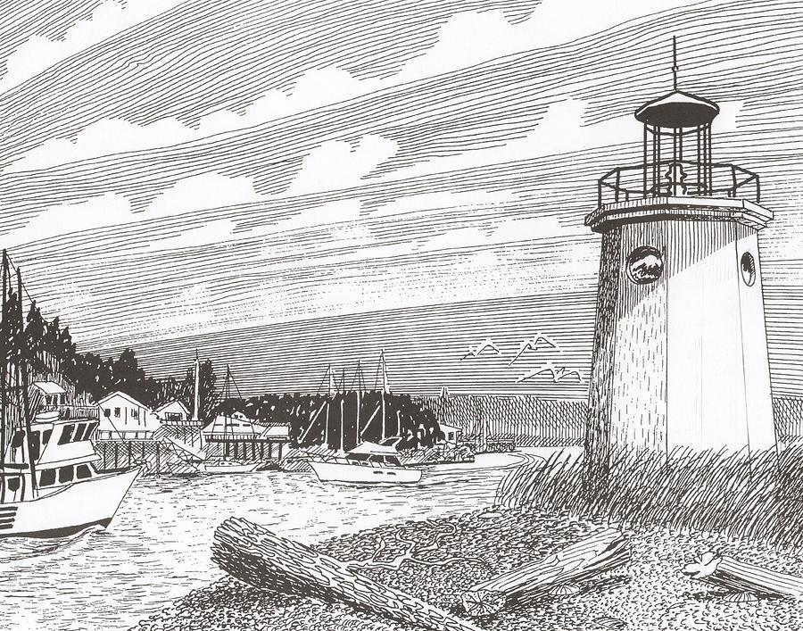 Gig Harbor Lighthouse Drawing