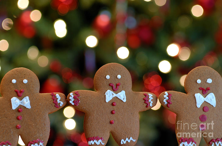 Gingerbread Men In A Line Photograph