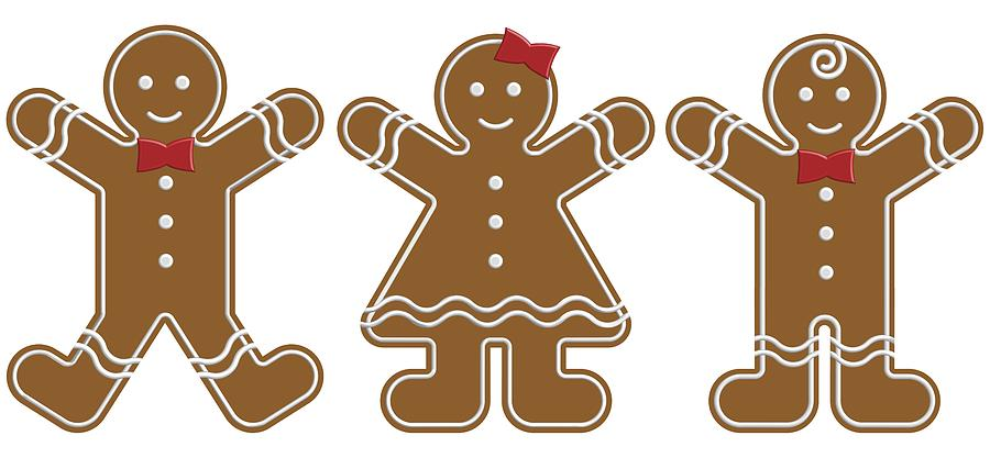 Gingerbread People By Colette Scharf