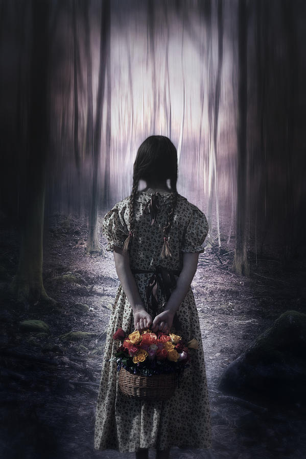 Girl In The Woods Photograph  - Girl In The Woods Fine Art Print