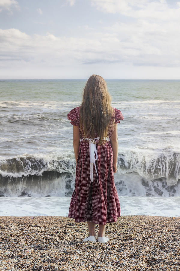 Girl On Beach Photograph  - Girl On Beach Fine Art Print