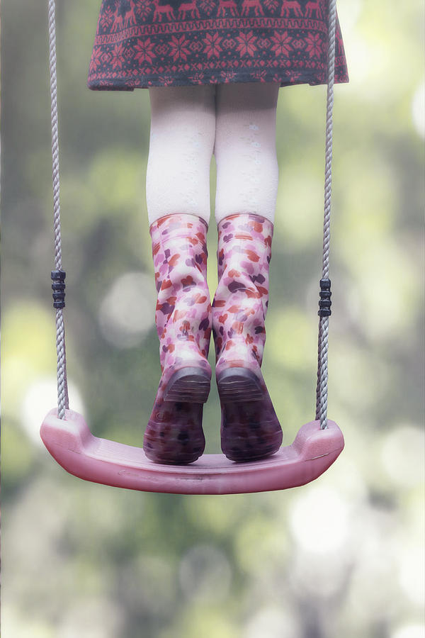 Girl Swinging Photograph  - Girl Swinging Fine Art Print