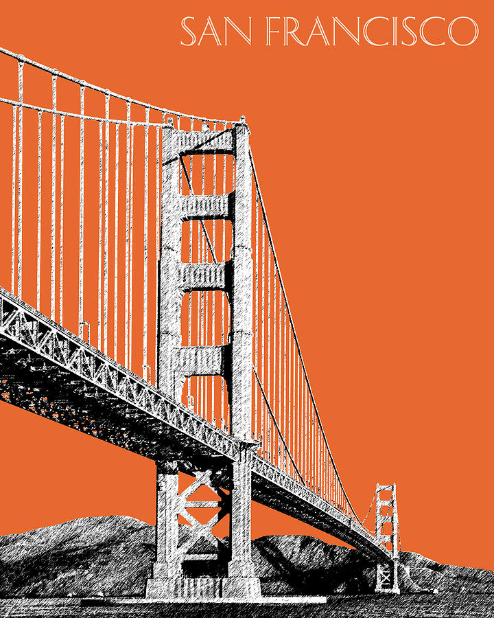 Golden Gate Bridge 2 Digital Art  - Golden Gate Bridge 2 Fine Art Print