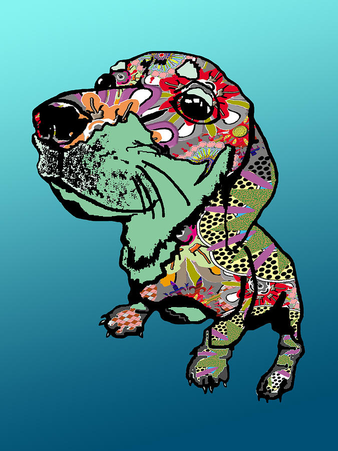 Graffiti Puppy Digital Art  - Graffiti Puppy Fine Art Print