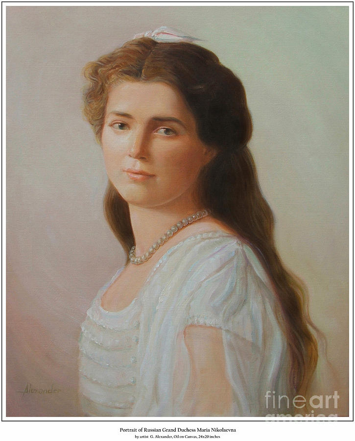 Grand Duchess Maria Nikolaevna Of Russia Painting  - Grand Duchess Maria Nikolaevna Of Russia Fine Art Print