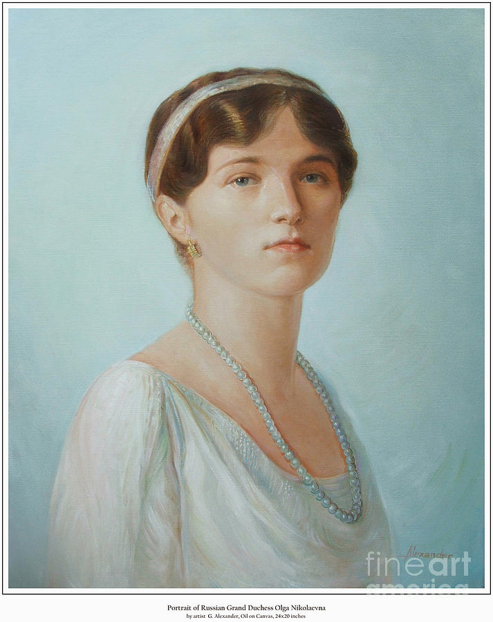 Grand Duchess Olga Nikolaevna Of Russia Painting  - Grand Duchess Olga Nikolaevna Of Russia Fine Art Print
