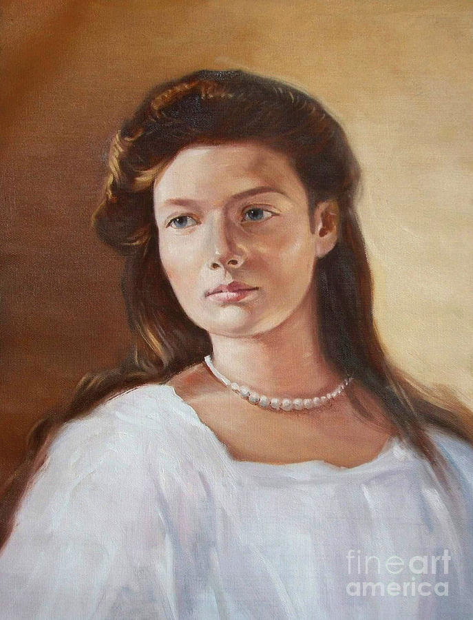 Grand Duchess Tatiana Nikolaevna Of Russia Painting