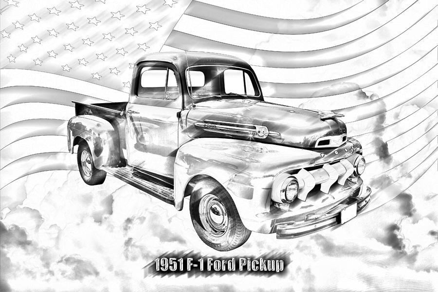 green 1951 ford f