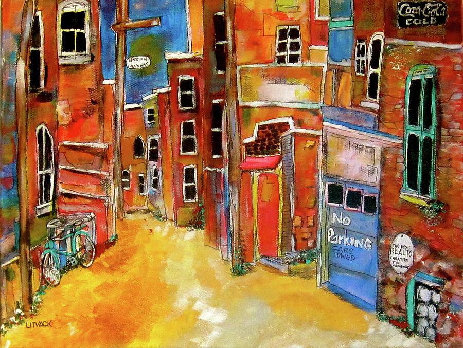 Green Laneway 2 Painting