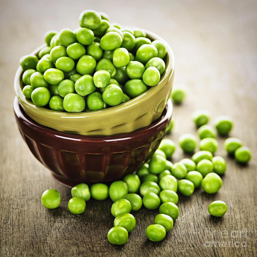 Peas Photograph - Green Peas by Elena Elisseeva
