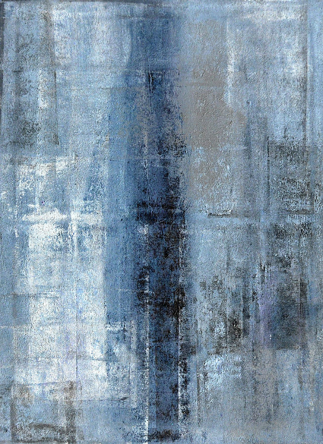 Number One Blue And Grey Abstract Art Painting Painting