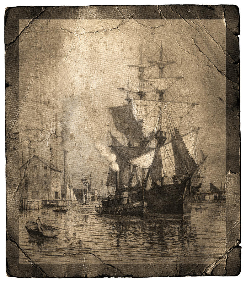 Grungy Historic Seaport Schooner Photograph  - Grungy Historic Seaport Schooner Fine Art Print