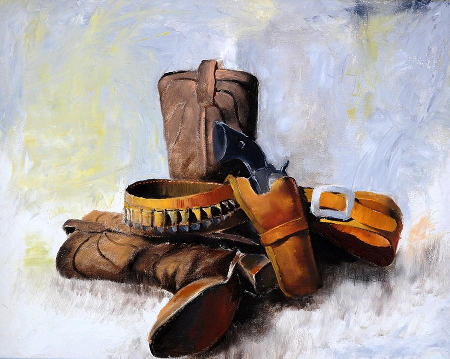 Still Life Painting - Gun And Holster by James Skiles