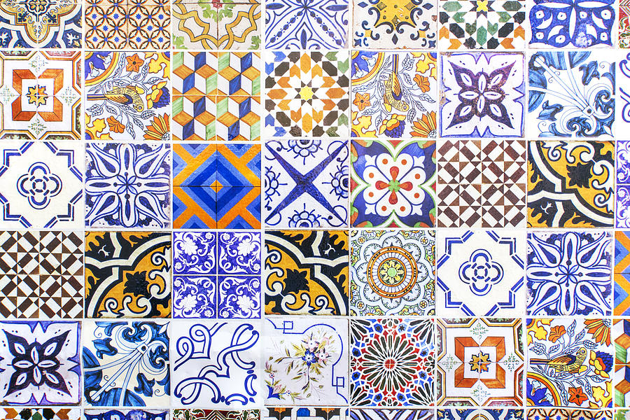 Pin by marissa joan on designs and motif pinterest - Hand painted ceramic tile ...