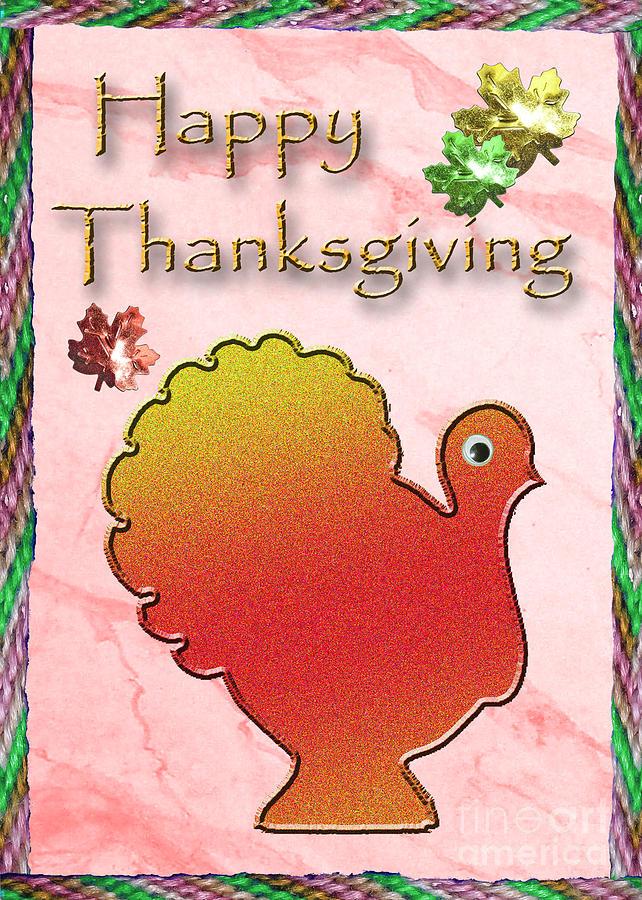 Happy Thanksgiving Digital Art - Happy Thanksgiving Turkey  by Jeanette K