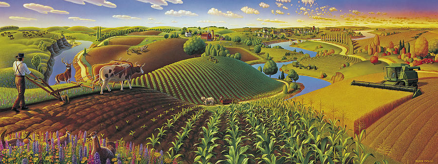 Harvest Panorama Painting By Robin Moline