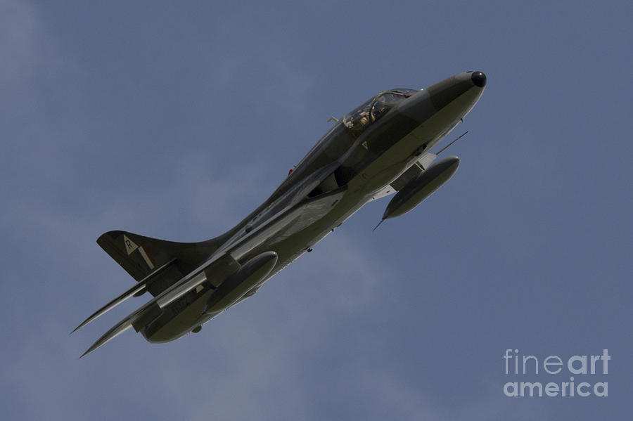 Hawker Hunter Pyrography  - Hawker Hunter Fine Art Print