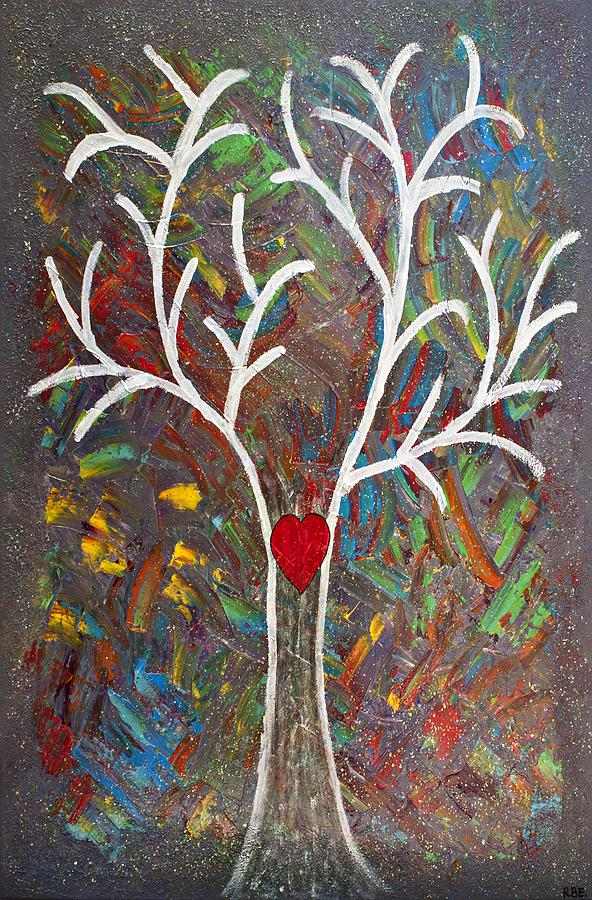 Heart-centered Healing Energy Painting  - Heart-centered Healing Energy Fine Art Print