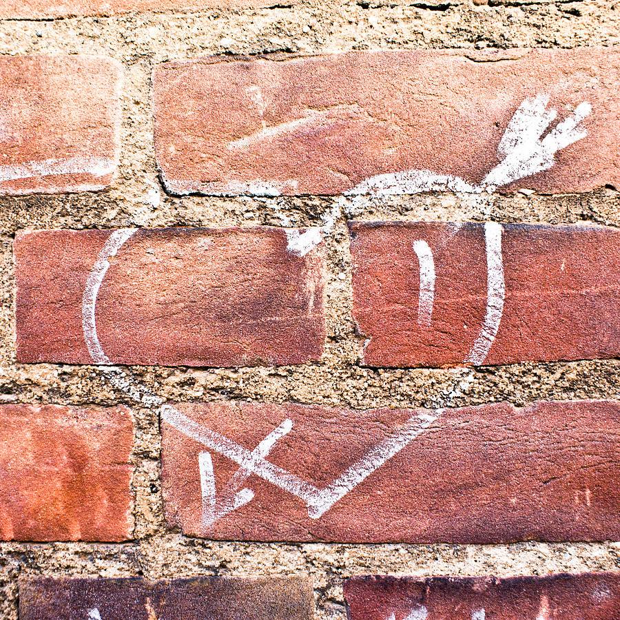 Adoration Photograph - Heart Graffiti by Tom Gowanlock