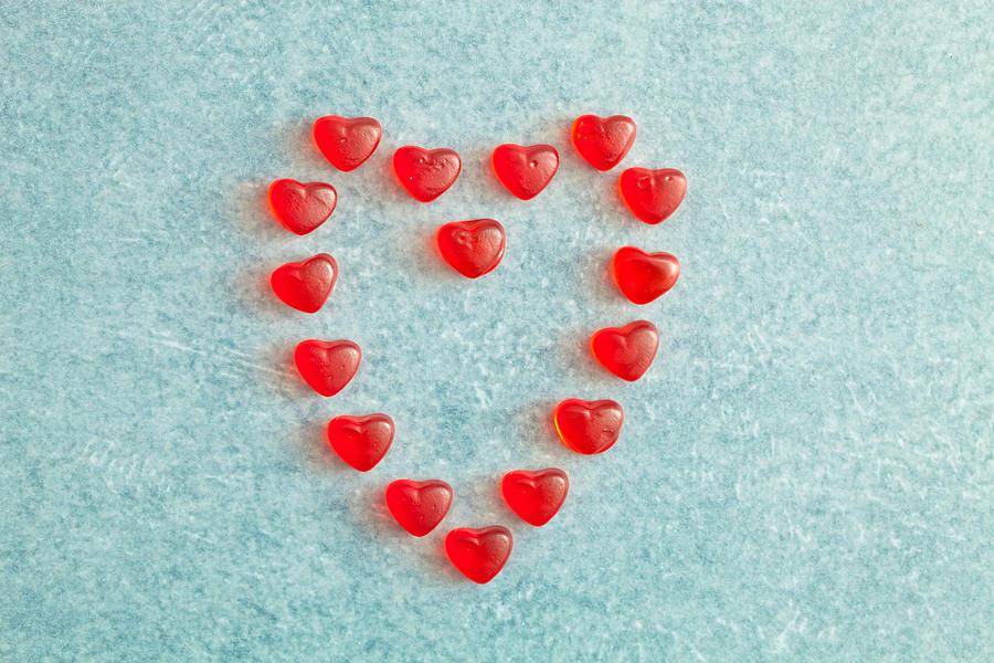 Adoration Photograph - Heart Shape by Tom Gowanlock