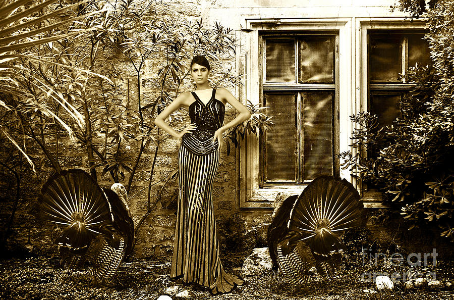 High Fashion Model With Turkey Photograph