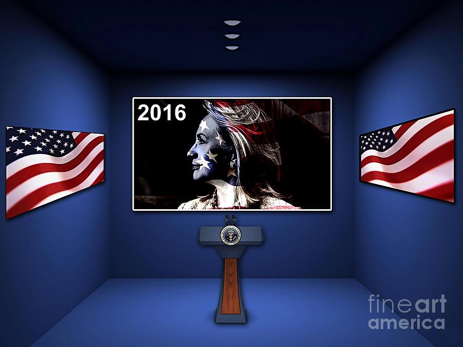 Hillary 2016 Mixed Media