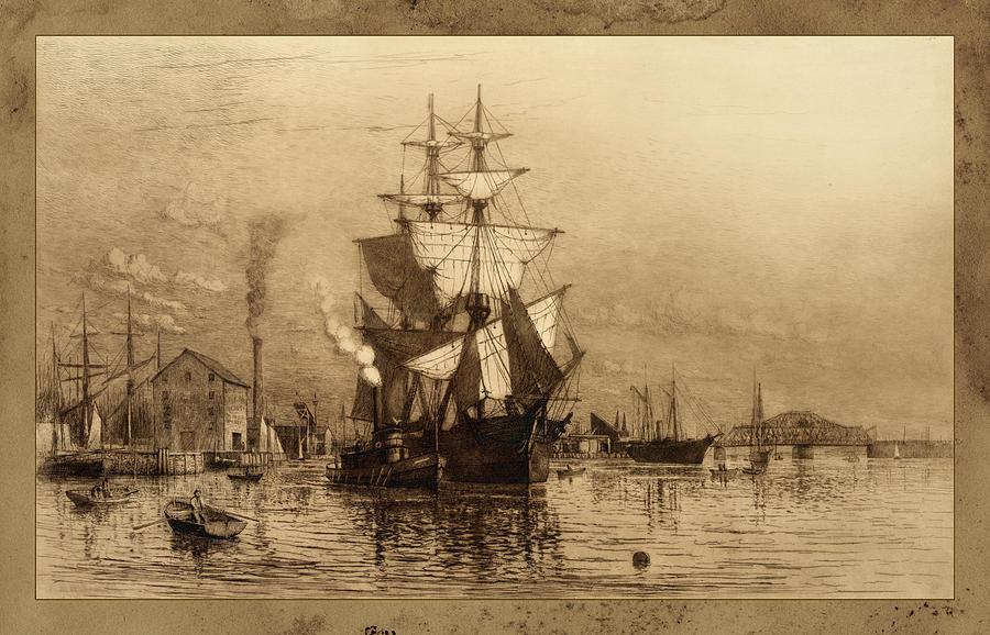 Historic Seaport Schooner Photograph