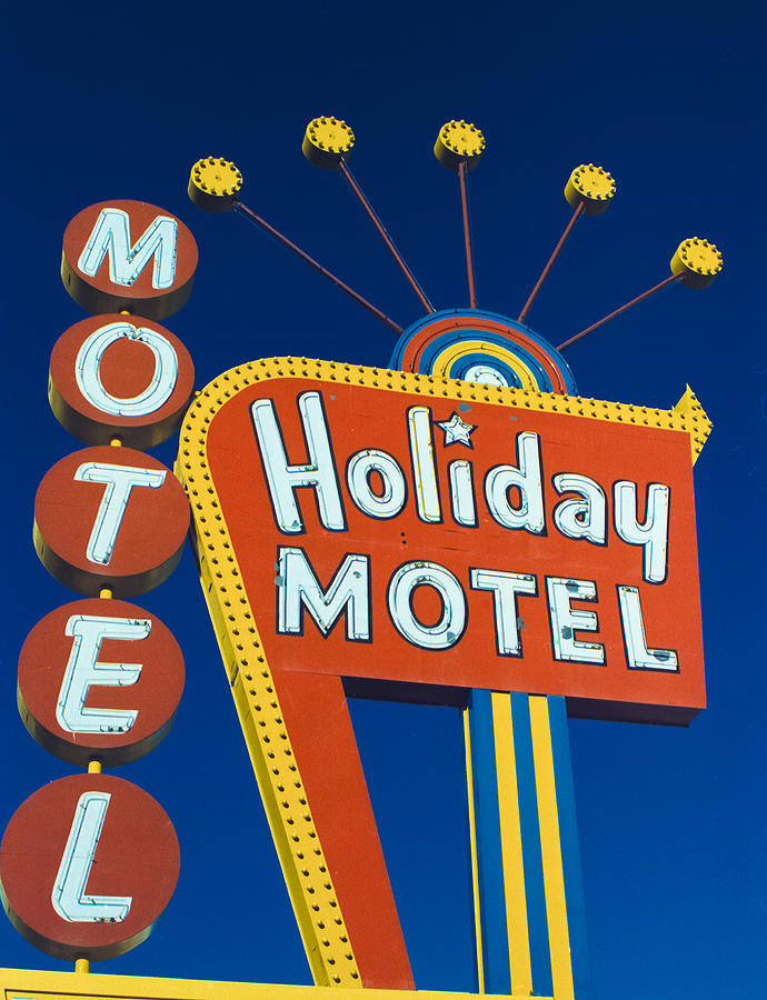 Holiday Motel Photograph  - Holiday Motel Fine Art Print