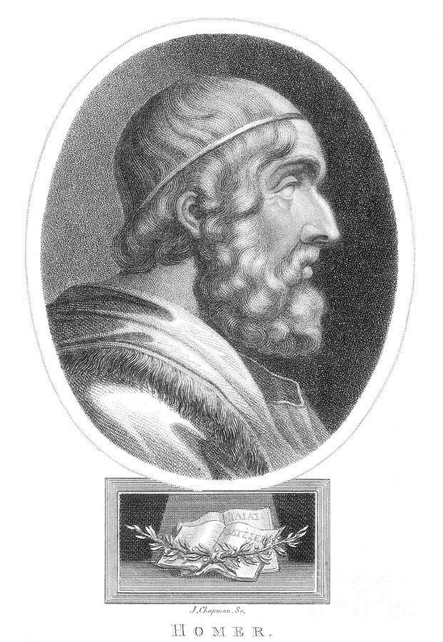Homer, Ancient Greek Epic Poet Photograph