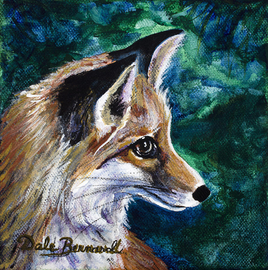 Fox Painting - Hopeful Fox by Dale Bernard
