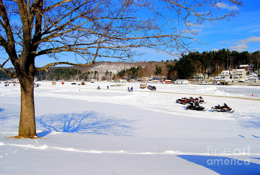 Ice Fishing Photograph  - Ice Fishing Fine Art Print