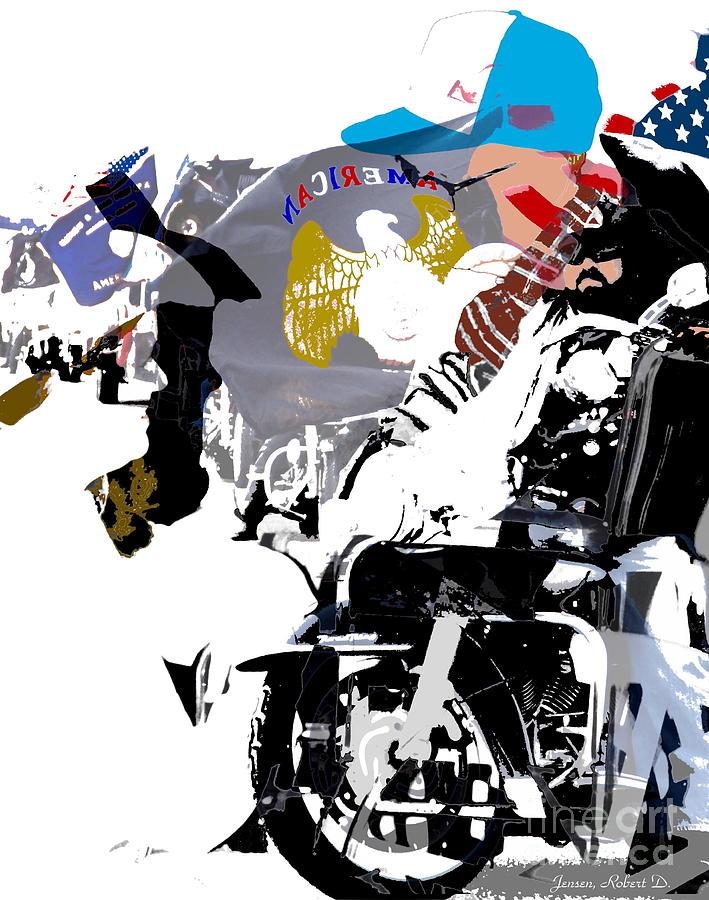 Motorcycle Digital Art - In It Together by Robert Jensen