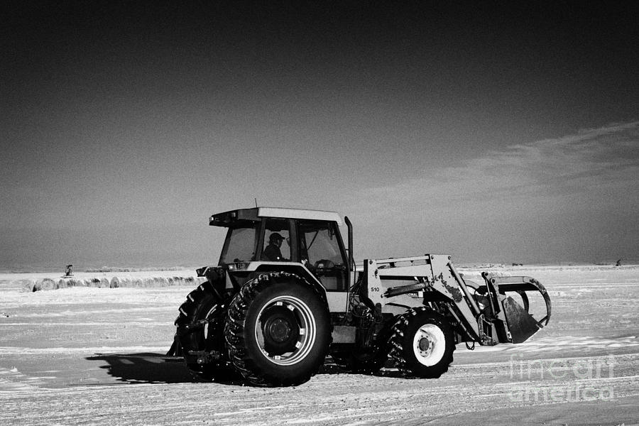 international 5140 tractor with front end loader on frozen field Forget Saskatchewan Canada Photograph  - international 5140 tractor with front end loader on frozen field Forget Saskatchewan Canada Fine Art Print