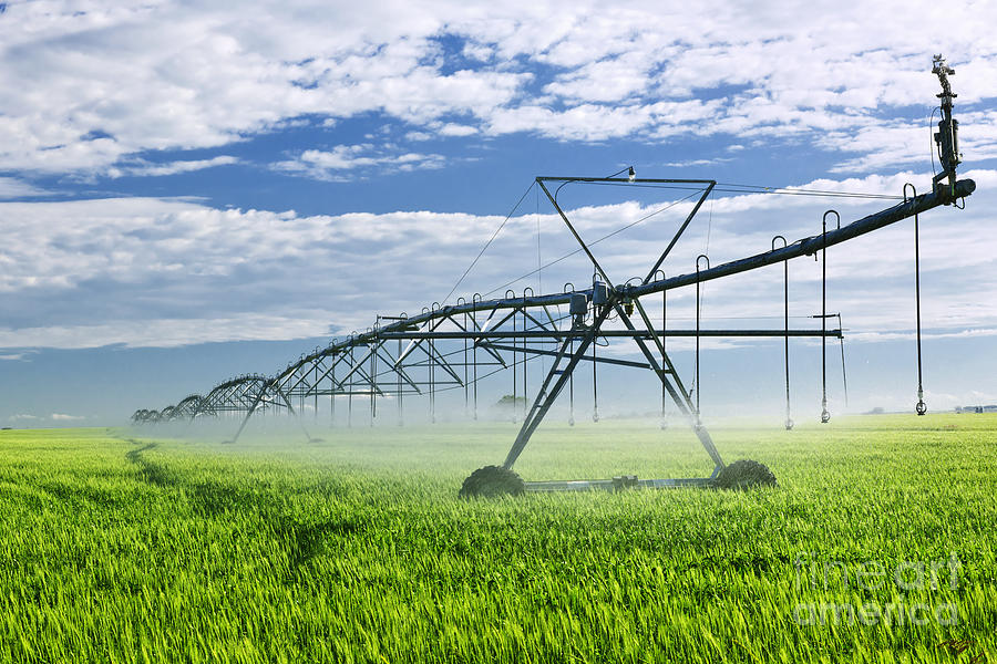 Irrigation Equipment On Farm Field Photograph  - Irrigation Equipment On Farm Field Fine Art Print
