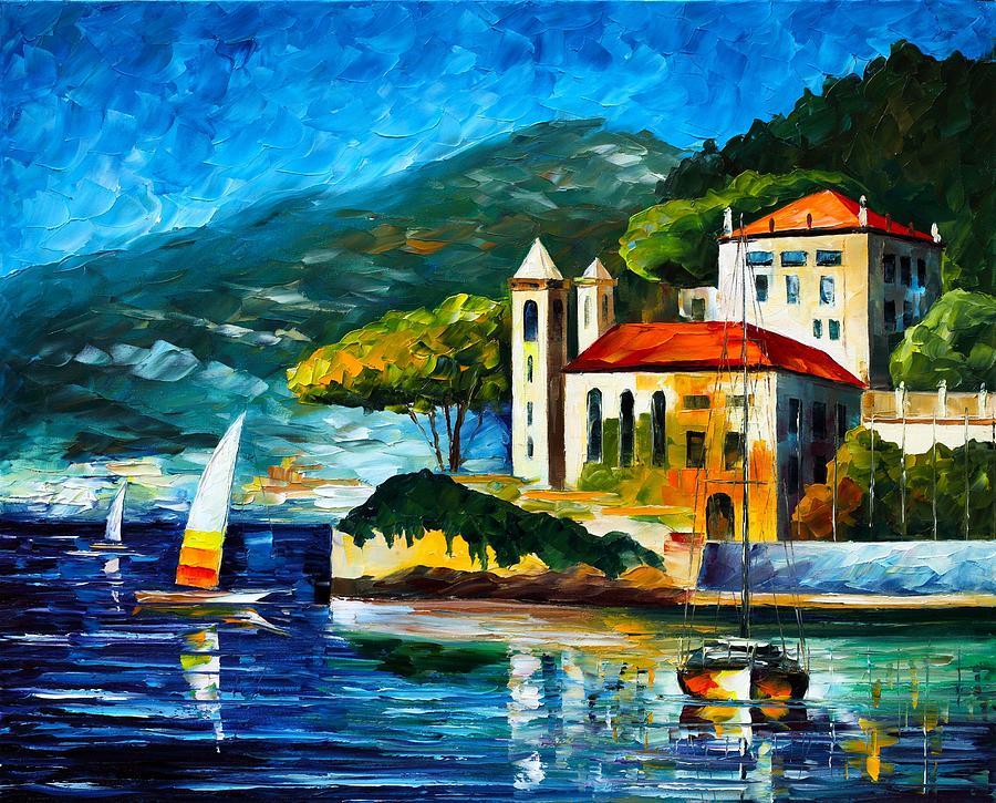Italy Lake Como Villa Balbianello Painting