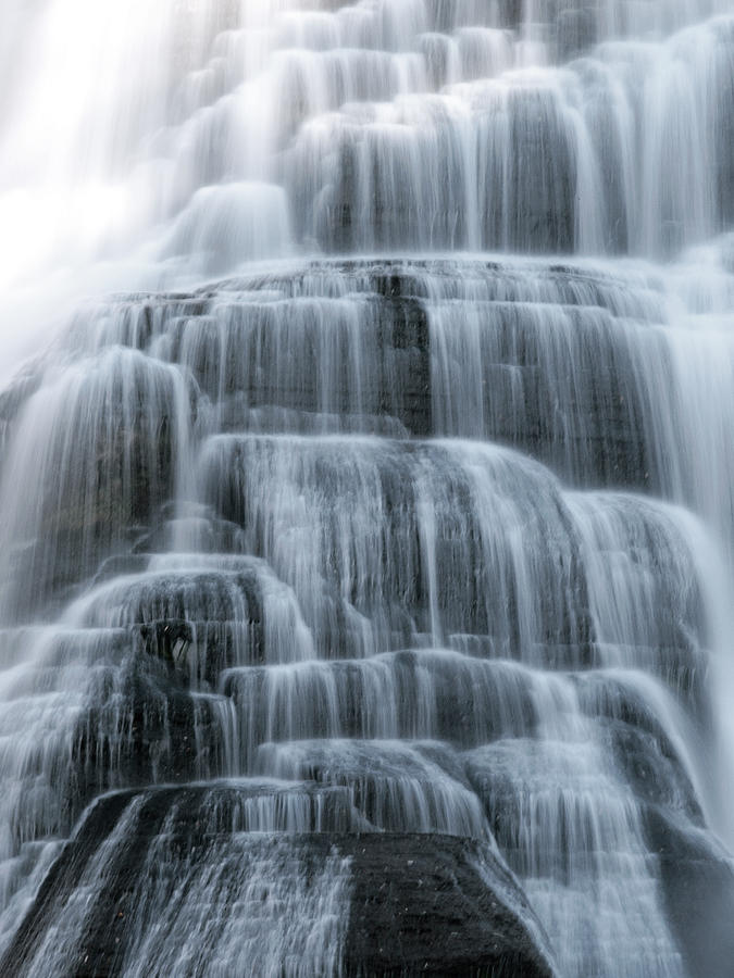 Ithaca Photograph - Ithaca Water Falls New York Panoramic Photography by Paul Ge