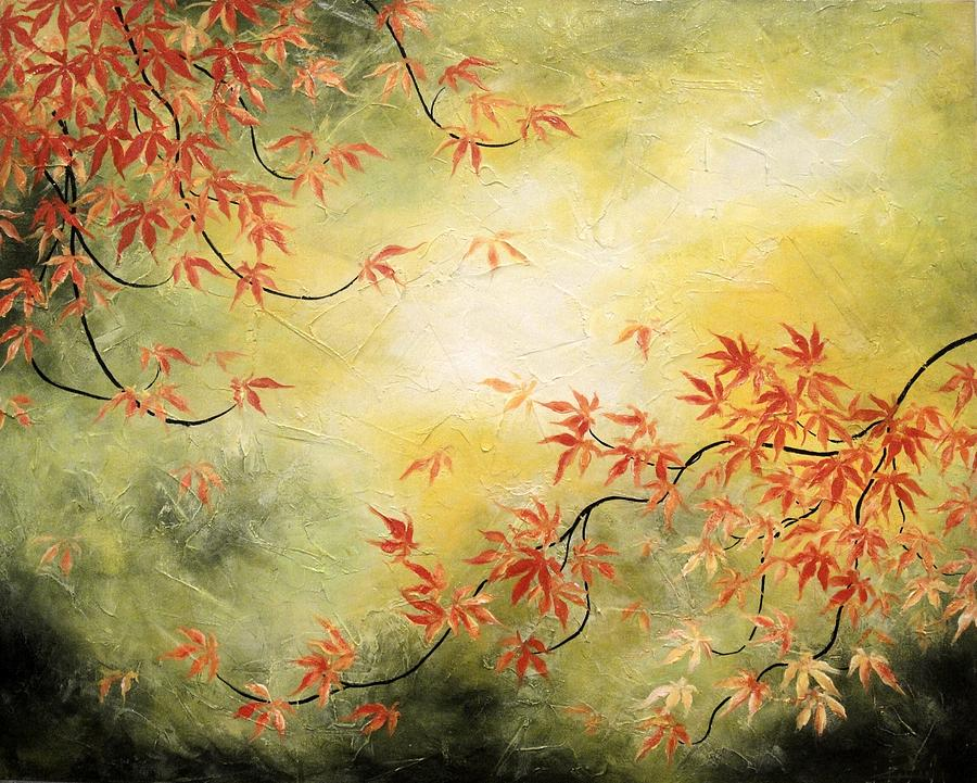 Japanese Maple Tree Painting  - Japanese Maple Tree Fine Art Print