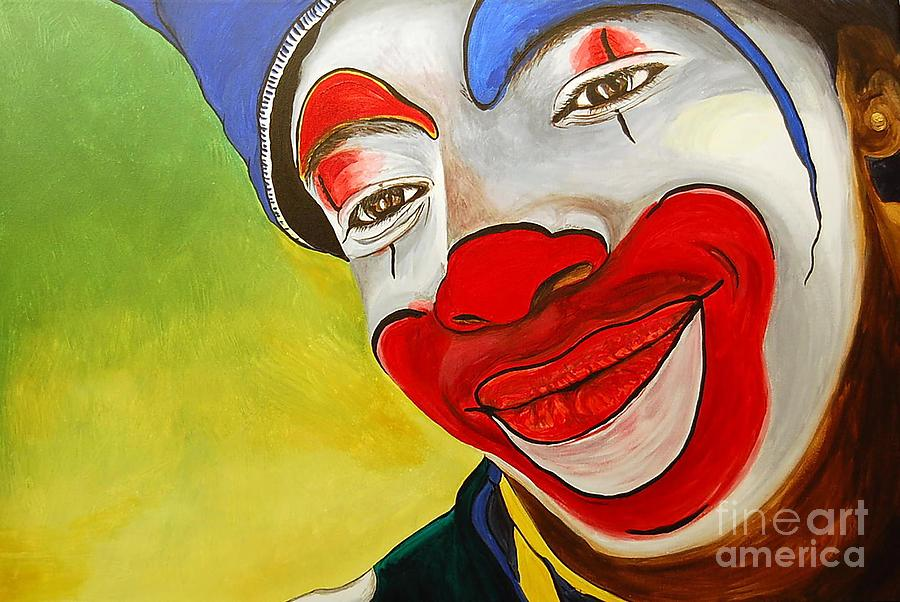 Jason The Clown Painting  - Jason The Clown Fine Art Print