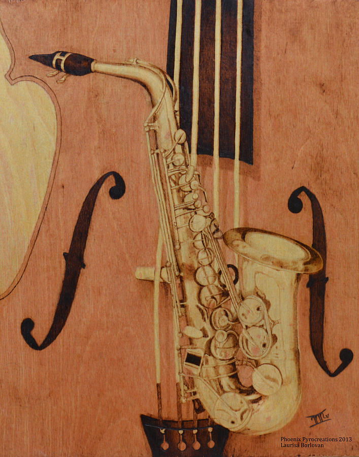 Jazz Is The Color Pyrography
