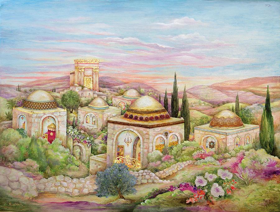 Ancient Painting - Jerusalem Landscape by Michoel Muchnik