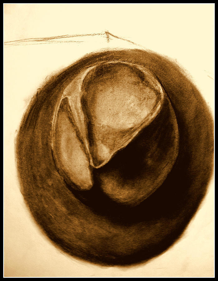Joes Hat - Black- Tan Drawing
