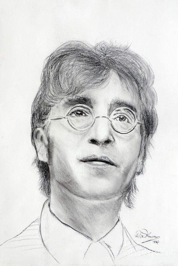 John Lennon Beatles Drawing